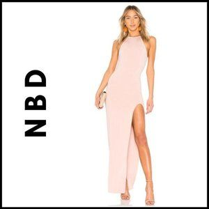 NWT NBD Pinot Gown in Blush Pink, XS